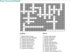 Crossword Puzzle Games: creare cruciverba da stampare