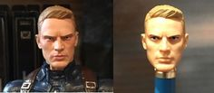 Custom Captain America Steve Rogers Marvel Legends Action Figure Before and After