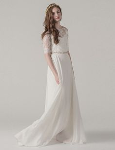 vintage + romantic dress from the Sarah Seven Spring 2015 Collection