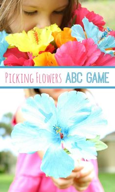 Picking Flowers ABC Game for Preschoolers