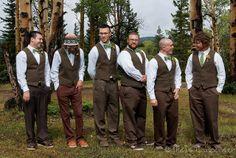 Guys' wedding attire for a mountain wedding.  Photo: Matt Carpenter
