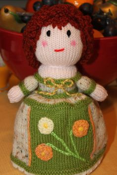 English Topsy Turvy Doll  Hand Knit Doll  by BritanniaHouse, $39.95, 9""