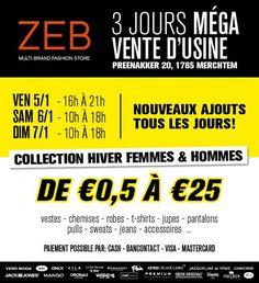 ZEB fabrieksverkoop  -- Merchtem -- 05/01-07/01