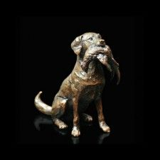 The Labrador and Pheasant Bronze Figure £125.00