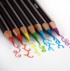 Rainbow Colored Pencils.