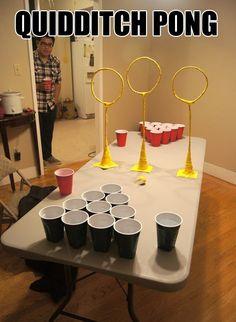 quidditch pong!!!!!