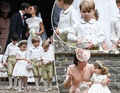 PRINCE George appeared to get a ticking off from Kate, Duchess of Cambridge, after throwing a little tantrum and bursting out crying at Pippa Middleton's wedding as she prepared to walk down the aisle. Royal Wedding Pippa Middleton, Pippa Middleton Dress, Middleton Family, Kate Middleton Style, Princess Diana Wedding, Princess Diana Family, Royal Princess, Princess Charlotte Pictures, William Kate Wedding