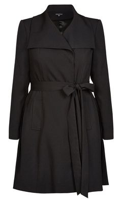 City Chic - SO CHIC BLACK TRENCH - Women's Plus Size Fashion