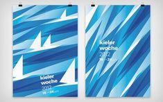 Bildresultat för kieler woche plakate 2012 British High School, Cool Posters, Sailboat, Art School, Stained Glass, Sailing, Concept, Graphic Design, Logos