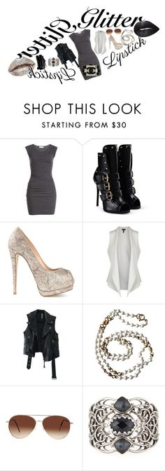 """""""BlackandWhite"""" by aralyn0111 ❤ liked on Polyvore featuring beauty, Velvet, Giuseppe Zanotti, Eileen Fisher, Free People, Chanel, Eloquii and Stephen Webster"""