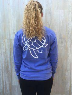 Flo Blue Honu Print - Makai Clothing Co.
