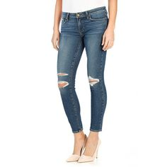 Women's Paige Denim 'Legacy - Verdugo' Ripped Ultra Skinny Jeans ($229) ❤ liked on Polyvore featuring jeans, daria destructed, ripped skinny jeans, white skinny jeans, white destroyed skinny jeans, torn jeans and white jeans