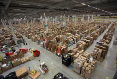 41 Things You Need To Know Right Now, For No Reason In Particular~ This is the inside of an Amazon warehouse.