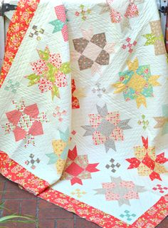 Wow check out this brilliant thing - what a creative concept Star Quilts, Scrappy Quilts, Quilt Blocks, Quilting Tips, Quilting Projects, Quilting Designs, Nancy Zieman, Blog Art, Picnic Quilt