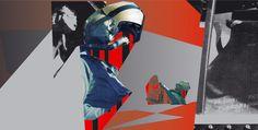 Primal Scream 'XTRMNTR' ad campaign. Art Director: Julian House