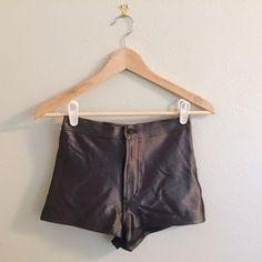 American Apparel Pants - Charcoal Grey Disco Shorts