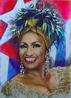 Celia Cruz, Cuban-American salsa performer, giclee print on Canvas by Star Mocha, Vintage Cuba, Puerto Rico History, Puerto Rican Culture, Latin Artists, Cuban Art, Hispanic Heritage, Black Artwork, Tropical Art