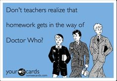 "And teachers will probably say: ""Doctor Who?"""