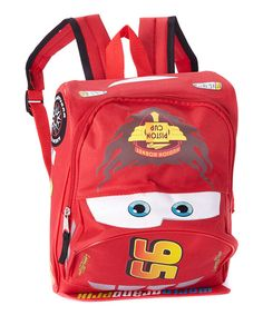 This Cars Lightning McQueen Backpack by Disney•Pixar Cars is perfect! #zulilyfinds