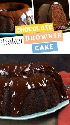 The best sweet treat recipe thats beyond easy but definitely impressive is within this chocolate brownie cake! Brownie Mix Recipes, Chocolate Cake Mix Recipes, Bakers Chocolate, Chocolate Fudge Brownies, Chocolate Bundt Cake, Easy Cake Recipes, Chocolate Sour Cream Cake, Coconut Brownies, Chocolate Chocolate