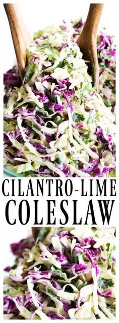 CILANTRO-LIME COLESLAW - A Dash of Sanity