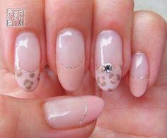 ジェルネイル*ピンクなヒョウ柄ネイル