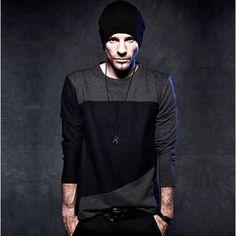 NOVO T-shirt cor da camisa 2012 hot-venda de moda masculina manga longa bloco decoração t 1558-T17 cores mistas Grim muito legal $9,99