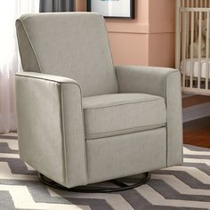 PRI Harmony Carlton Swivel Glider Recliner - Let the PRI Harmony Carlton Swivel Glider Recliner bring its combination of style and comfort to your child's nursery—or any room in the hou...