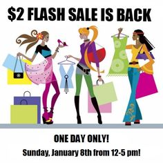 The $2 Super Sunday Benefit Sale is BACK this Sunday from 12-5 pm! Come shop for a good cause!