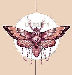 moth deign for a customer by mojoncio