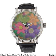 Brightly Colored Floral Watch