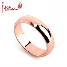 Italina chapado en Oro Rosa anillos de boda para las mujeres anillo de los hombres del Amante Regalo de Joyería de Moda anillos anel bague bijoux feminios
