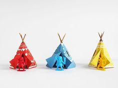 Create a colorful teepee village with this super fun printable paper craft!
