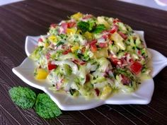 Pyszna surówka z cukinii - Blog z apetytem Dips, Potato Salad, Cabbage, Mango, Food And Drink, Potatoes, Healthy Recipes, Vegetables, Cooking