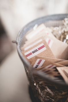 seed packet wedding favors // photo by Floataway Studios