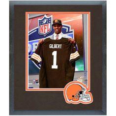 Justin Gilbert Cleveland Browns Historic Logo NFL Draft Framed Photo Mat - $25.64