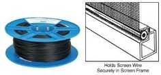 .165 Black Screen Retainer Spline - 500 Foot Roll by TechnologyLK. $29.17. Also Available in a Bulk 15 Pound Roll New Durable Plastic Spool This Screen Retainer Spline is a high quality, hollow core vinyl used for repairing, rescreening or fabricating window, door and patio screens. This 500 foot roll comes with a new durable plastic spool that makes it easy to handle. The gray spline blends well with aluminum or gray fiberglass screen wire and mill colored frames. The black ...