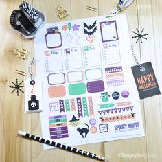 Halloween Planner Stickers - Free Printable Download
