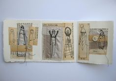 the kindest folk  original mixed media collage  by cathycullis, £40.00