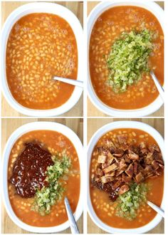 Easy Baked Beans are a must-have for any summer cookout, potluck or family get together. Made with a homemade barbecue sauce and loads of bacon for a the best flavor combination of smoky, savory and sweet. You won't find a tastier version! Best Baked Beans, Baked Beans With Bacon, Pork N Beans, Three Bean Salad, Homemade Barbecue Sauce, Feeding A Crowd, Smoked Paprika, Side Dishes Easy, Kitchen Recipes