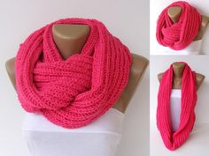 Super cute infinity knitted scarf