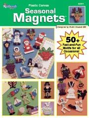 Plastic Canvas Seasonal Magnets