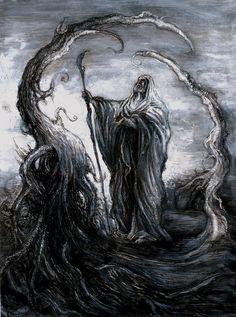 Slavic Mythology -The priest Slavic by masiani