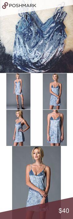 Velvet Ice Dress New | Boutique brand | Velvet slip dress | Lined | 96% polyester 4% spandex | LF Dresses Mini