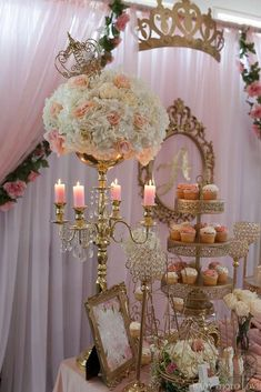 Royal baptism baptism party ideas photo 1 of 60 catch my party picture 4 of 15 Quince Themes, Quince Decorations, Quince Ideas, Quinceanera Decorations, Quinceanera Party, Quinceanera Dresses, Princess Theme, Princess Birthday, Royal Party
