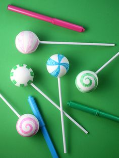 Drawing on Cake Pops
