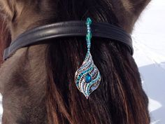 Blue and Silver Chandelier - Browband Accent for Horse Bridle on Etsy, $25.00