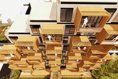 BHP, un prototipo de vivienda multifamiliar bioclimático desarrollado en Colombia - Natalia Carrero Rojas   #arquitectura #bioclimatica #vivienda #prototipo #colombia #eficiencia #sostenibilidad