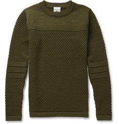 S.N.S. HerningTorso Waffle-Knit Wool Sweater|MR PORTER