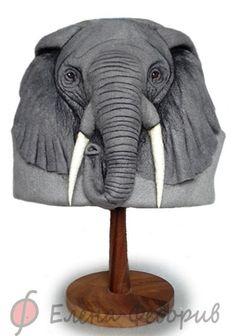 """Felted Hat by Elena Fedoriff Банные принадлежности ручной работы. Ярмарка Мастеров - ручная работа Шапка для бани """"Слон"""". Handmade."""